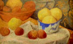 Apples and Blue Bowl | Paul SErusier | Oil Painting
