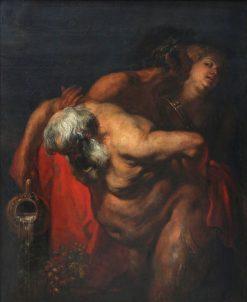 Drunken Silenus   Anthony van Dyck   Oil Painting