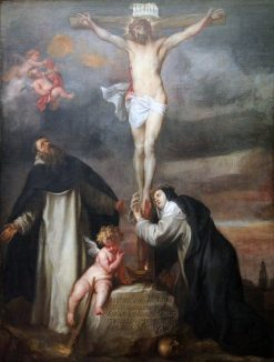 Christ on the Cross with Saint Catherine of Siena