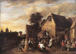 Flemish Kermess   David Teniers II   Oil Painting