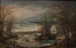 Winter Landscape with Castle | Denijs van Alsloot | Oil Painting