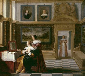 La toilette | Dirck van Delen | Oil Painting