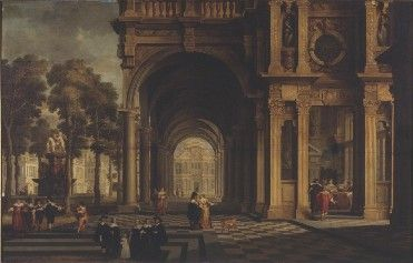 Portico of a Palace | Dirck van Delen | Oil Painting