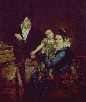 Portrait of the Hemptinne Family | Francois Joseph Navez | Oil Painting