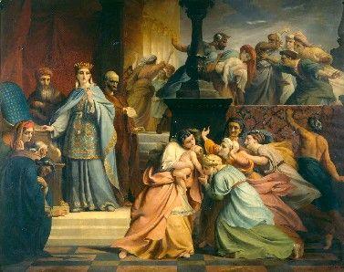 Judgement of Solomon | Francois Joseph Navez | Oil Painting