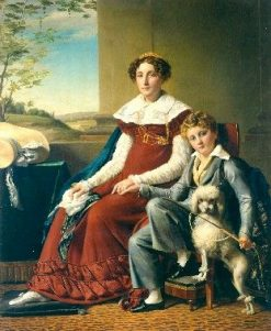 Portrait of Madame de Vylder and Her Son | Francois Joseph Navez | Oil Painting