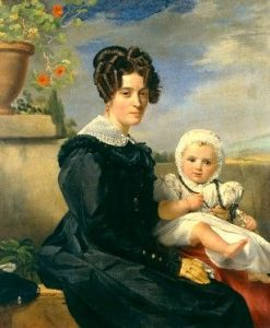 Portrait of Madame Navez and Her Son | Francois Joseph Navez | Oil Painting