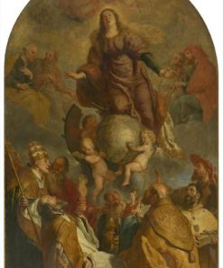 Assumption of Saint Catherine with Saints and Angels | Gaspard de Crayer | Oil Painting