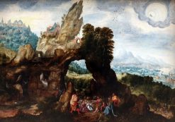 Landscape with Saint John the Baptist Preaching | Herri met de Bles | Oil Painting
