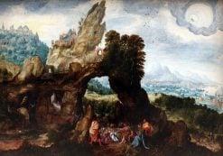 Landscape with Saint John the Baptist Preaching | Herri met de Bles | Oil Painting