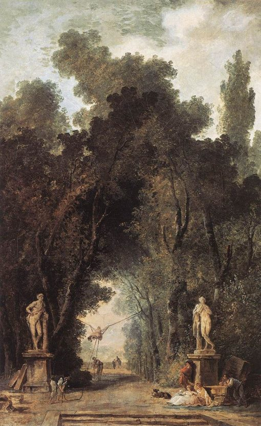 Avenue in a Park | Hubert Robert | Oil Painting