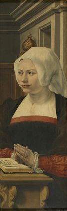 Portrait of a Female Donor (part of triptych) | Jan Gossaert | Oil Painting
