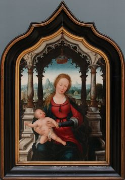 Virgin and Child: Central panel of triptych | Jean Bellegambe | Oil Painting