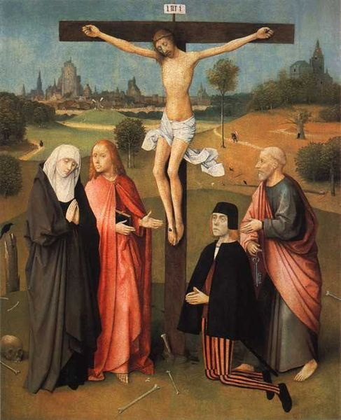 Crucifixion with Donor | Jheronimus Bosch | Oil Painting