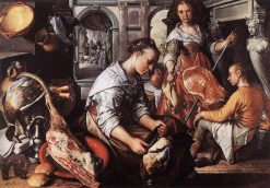 Christ in the House of Martha and Mary   Joachim Beuckelaer   Oil Painting