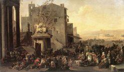 Roman Market Scene | Johannes Lingelbach | Oil Painting