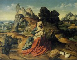 Rest on the Flight into Egypt   Joos van Cleve   Oil Painting