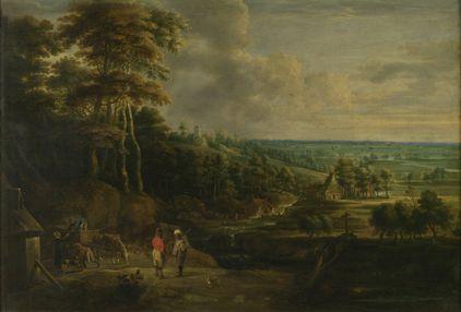 Departing for a Walk | Lucas van Uden | Oil Painting