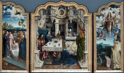 Triptych: Jesus in the House of Simon; the Raising of Lazarus and the Assumption of the Virgin | Master of | Oil Painting