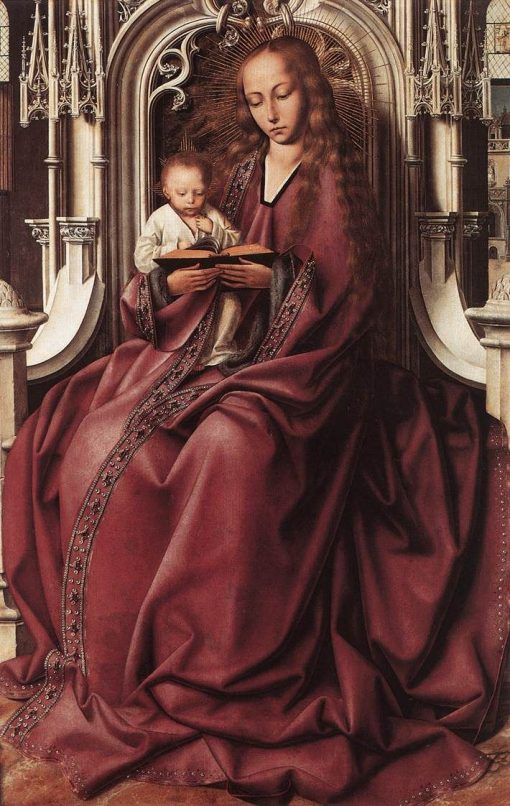 Virgin and Child   Quentin Massys   Oil Painting