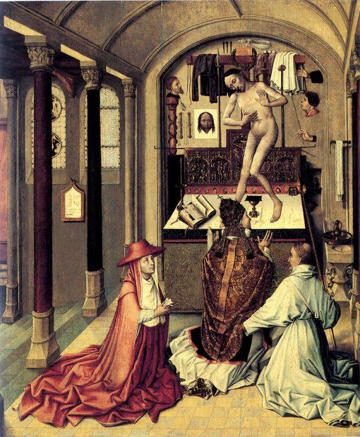 Mass of Saint Gregory | Robert Campin | Oil Painting