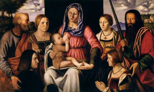 Virgin and Child with Saints and Donor | Bernardino Luini | Oil Painting