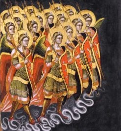 The Angels' Army | Guariento di Arpo | Oil Painting