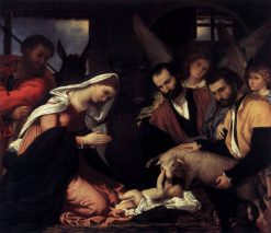 The Adoration of the Shepherds | Lorenzo Lotto | Oil Painting