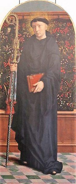 Saint Maurus Abbot   Gheeraert Gerard David   Oil Painting