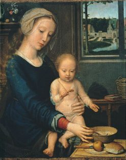 Madonna and Child with the Milk Soup | Gheeraert Gerard David | Oil Painting