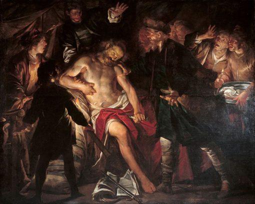 Death of Cato   Gioacchino Assereto   Oil Painting