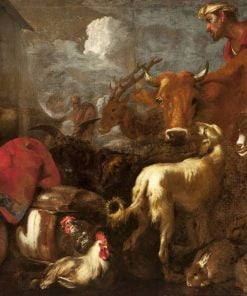 Animals Entering the Ark of Noah | Giovanni Castiglione | Oil Painting