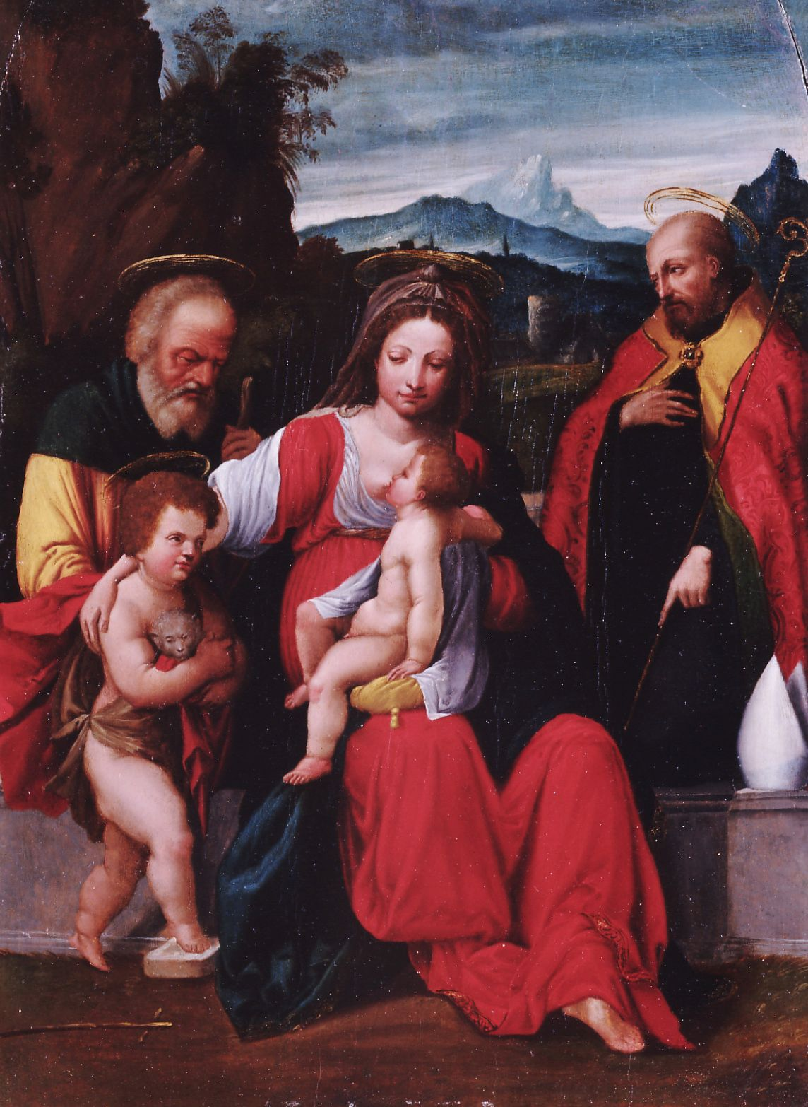 The Holy Family with Saint John | Il Garofalo | Oil Painting