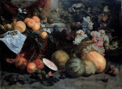 Still Life of Fruit and Vegetables | Jan Roos | Oil Painting