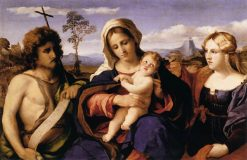 Virgin and Child with St John the Baptist and Mary Magdalene | Palma il Vecchio | Oil Painting
