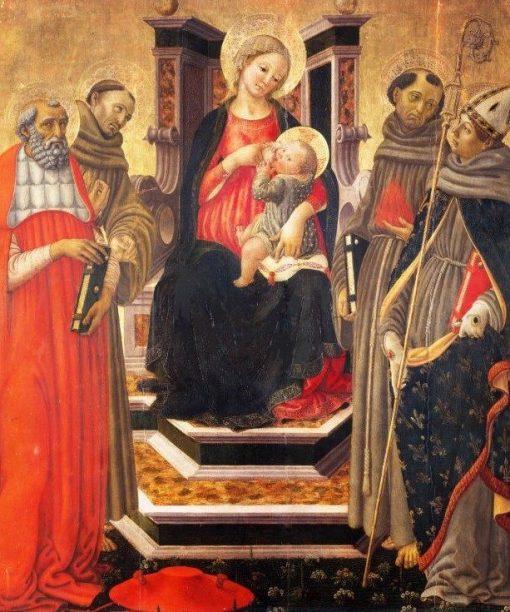 Madonna and Child with Four Saints | Francesco Botticini | Oil Painting