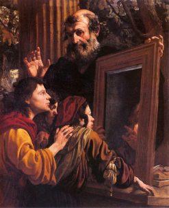The Teachings of Socrates   Pier Francesco Mola   Oil Painting