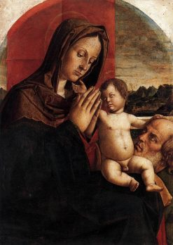 Madonna and Child with Saint Joseph | Bartolomeo Montagna | Oil Painting