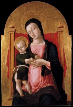 Madonna and Child Enthroned | Bartolomeo Vivarini | Oil Painting