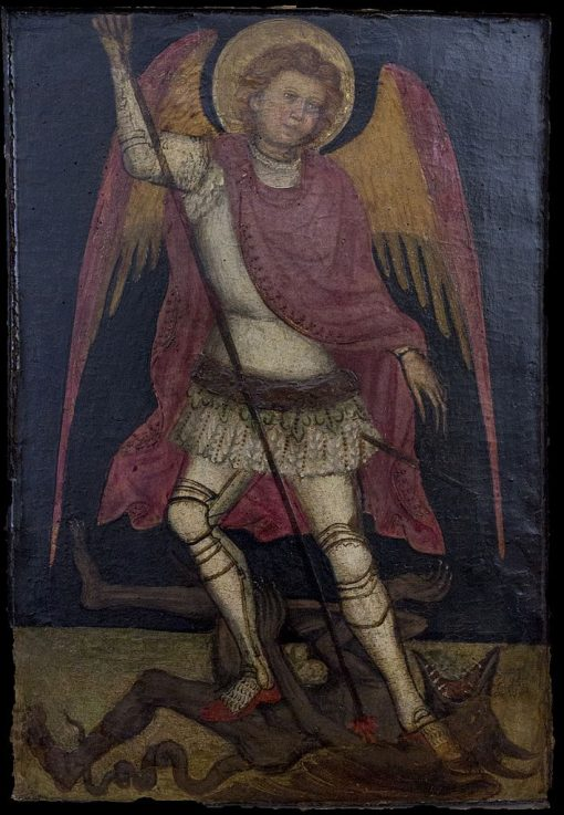 Saint Michael in Combat with the Devil | Guariento di Arpo | Oil Painting