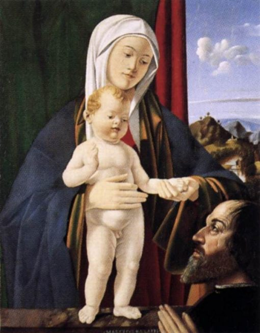 Madonna and Child with a Donor   Marco Basaiti   Oil Painting