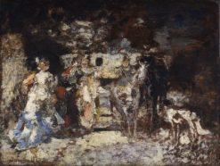 Amazon | Adolphe Joseph Thomas Monticelli | Oil Painting