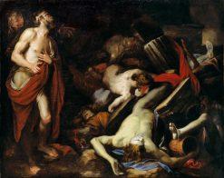 Job and His Children | Domenico Piola | Oil Painting