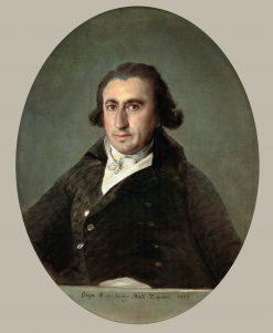 Portrait of Martin Zapater   Francisco de Goya y Lucientes   Oil Painting