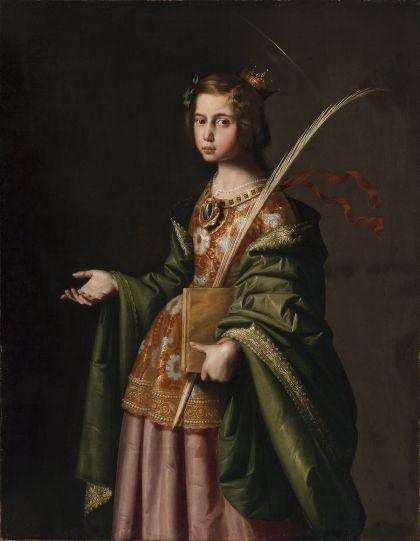 Saint Elizabeth of Thuringia   Francisco de Zurbaran   Oil Painting