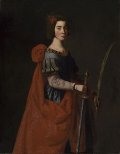 Saint Catherine of Alexandria   Francisco de Zurbaran   Oil Painting