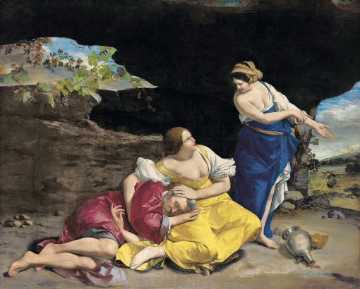 Lot and His Daughters | Orazio Gentileschi | Oil Painting