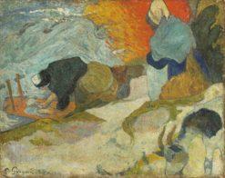 Laveuses a Arles (Washerwomen of Arles)   Paul Gauguin   Oil Painting