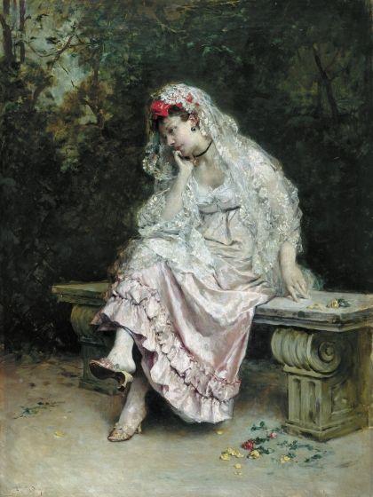 Young Lady in a Garden | Raimundo de Madrazo y Garreta | Oil Painting