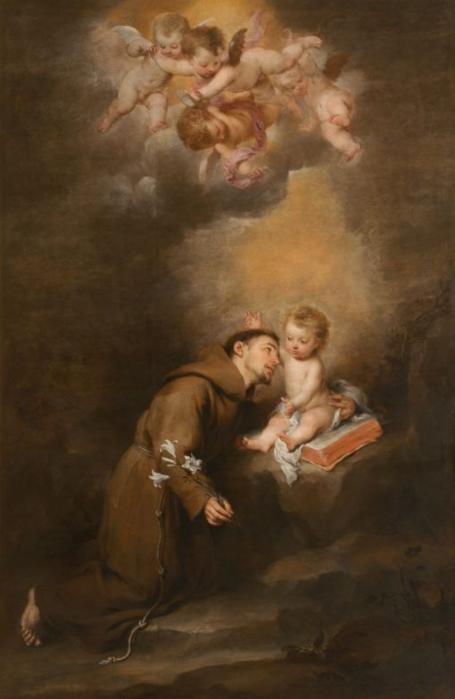 Saint Anthony of Padua with the Infant | BartolomE Esteban Murillo | Oil Painting